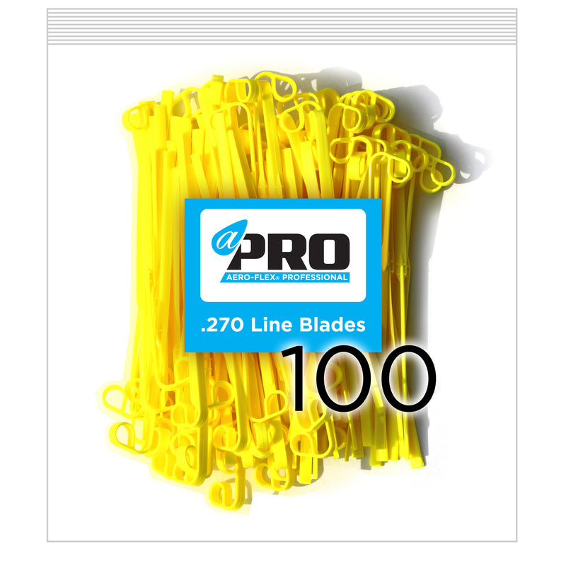 100 Pro .270 Line Blades-Yellow (CCW Sharp Side Leading)