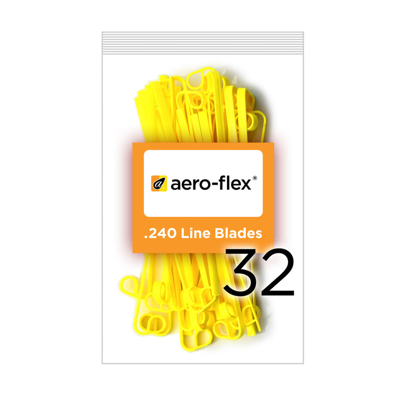 Yellow Replacement Blades 32-Pack (CCW Sharp Side Leading)