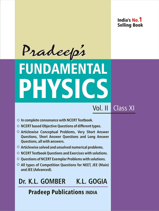 Pradeep's Fundamental Physics for Class 11 (Set of 2 Vol.) Examination 2020-2021