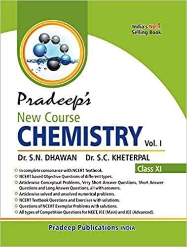 Pradeep's New Course Chemistry for Class 11 (Set of 2 Vol.) Examination 2020-2021