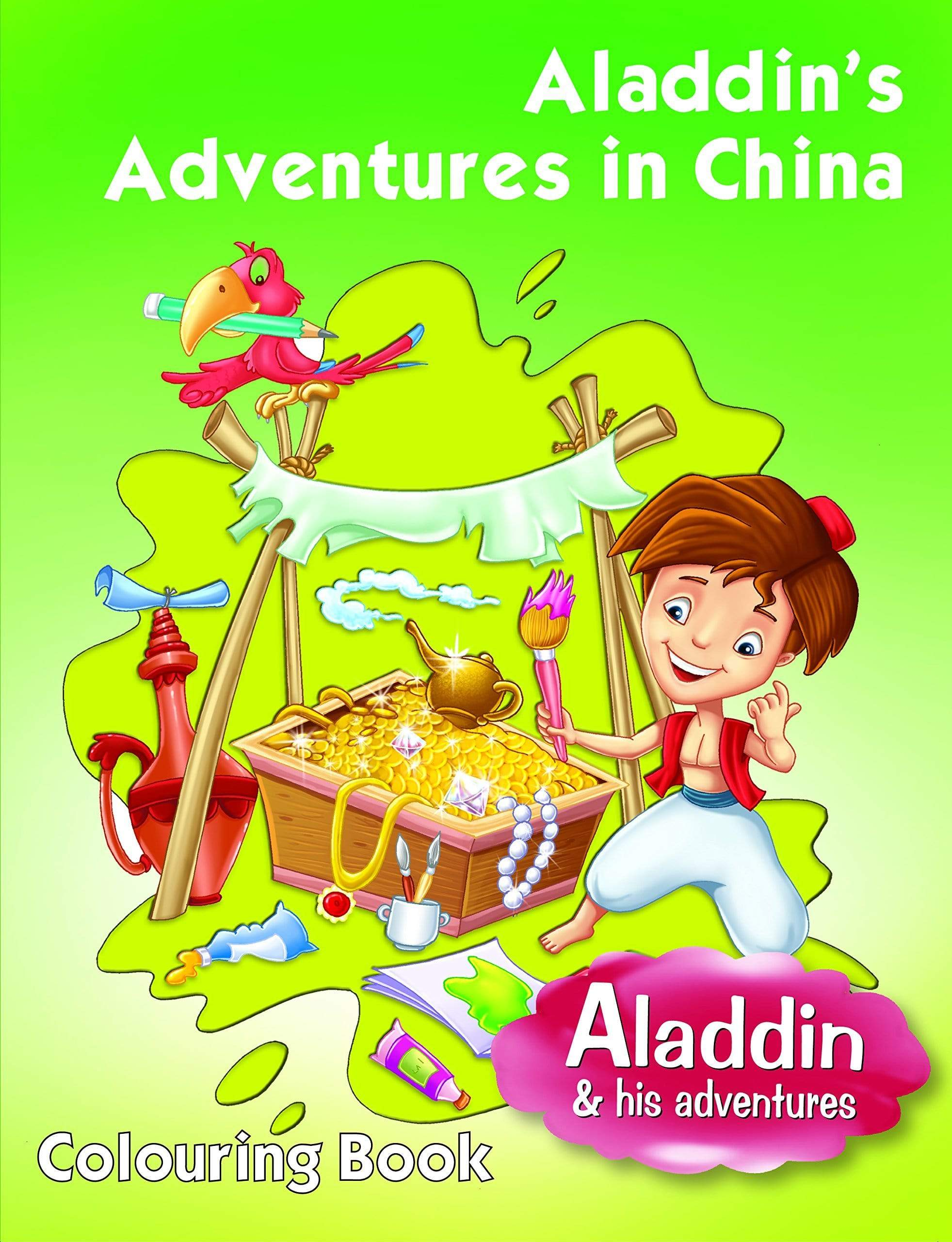 Aladdin's Adventures In China - Colouring Book
