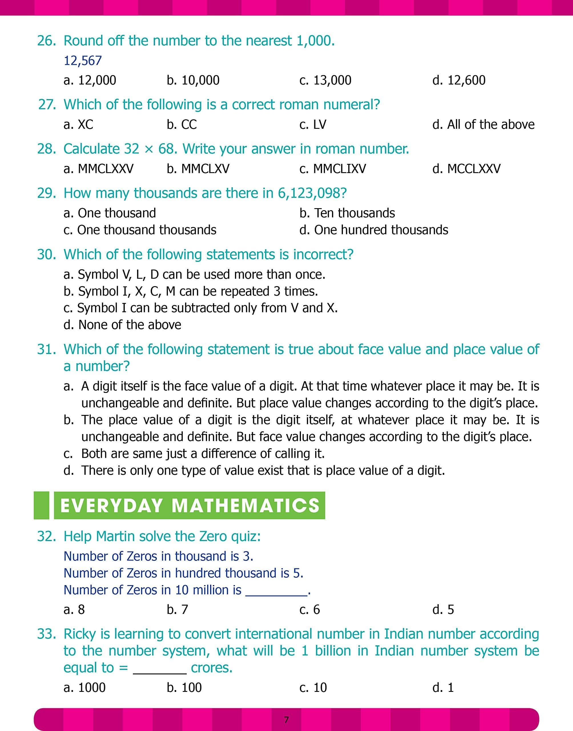 Maths Olympiad Book V
