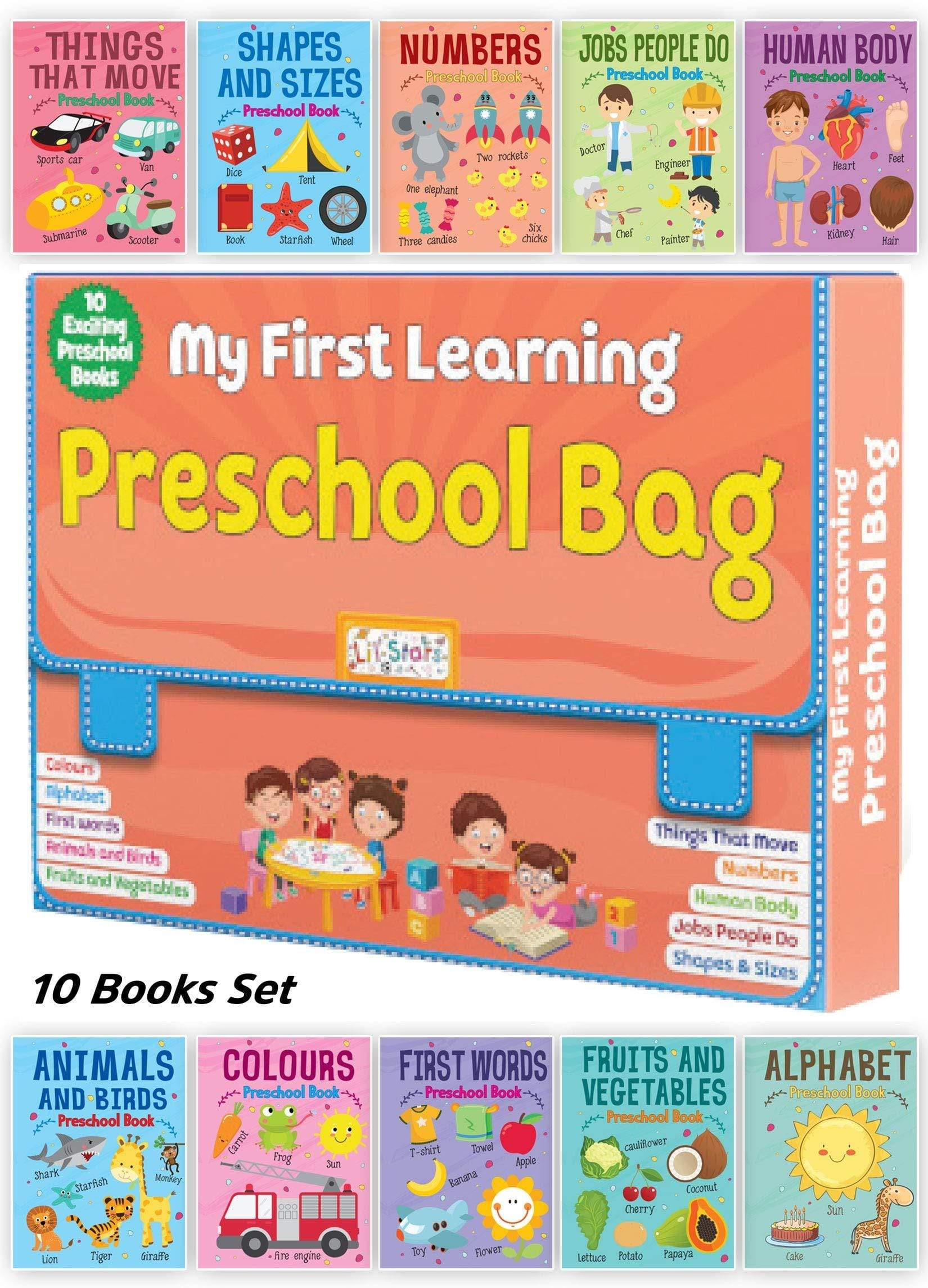 My First Learning Preschool Bag - Set of 10 Exciting Preschool Books