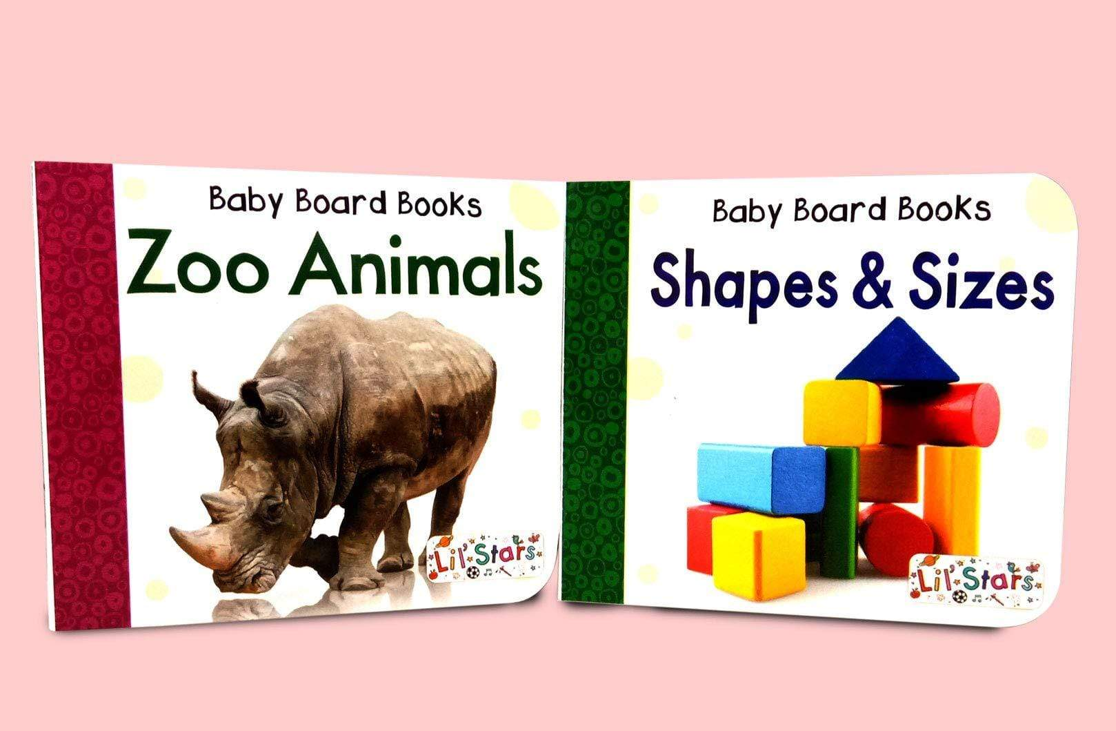 My First Library Box-Set of 10 Preschool Board Books (Alphabset, Fruits & Vegetables, Numbers, Animals & Birds, Colors, First Words, etc)