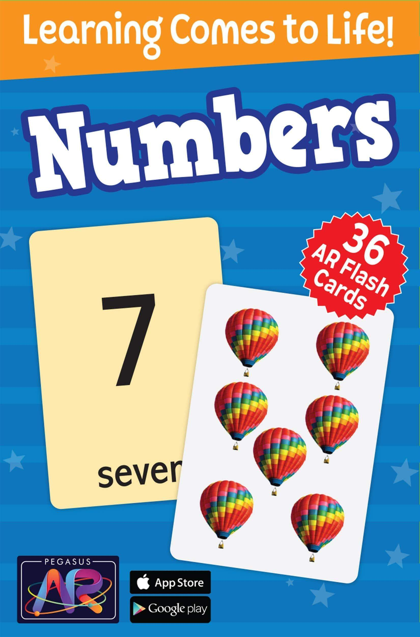 Numbers - 36 AR Flash Cards for Children (My Ar Flash Cards)