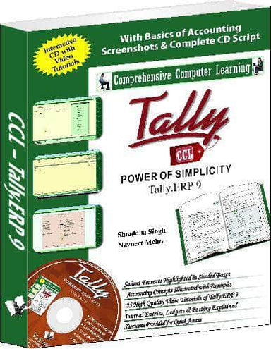 Buy Tally ERP 9 (Power Of Simplicity)  (With Youtube AV) Book Online Book V & S Publications 9789350571316