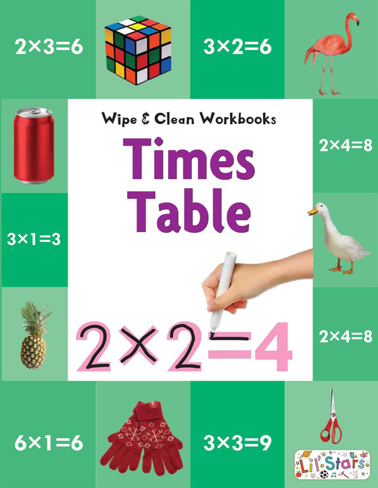 Times Table - Wipe & Clean Workbook with free Pen