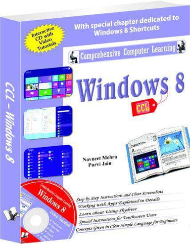 Buy Windows 8 (CCL)  (With Youtube AV) Book Online at Low Prices in Book V & S Publications 9789350570524