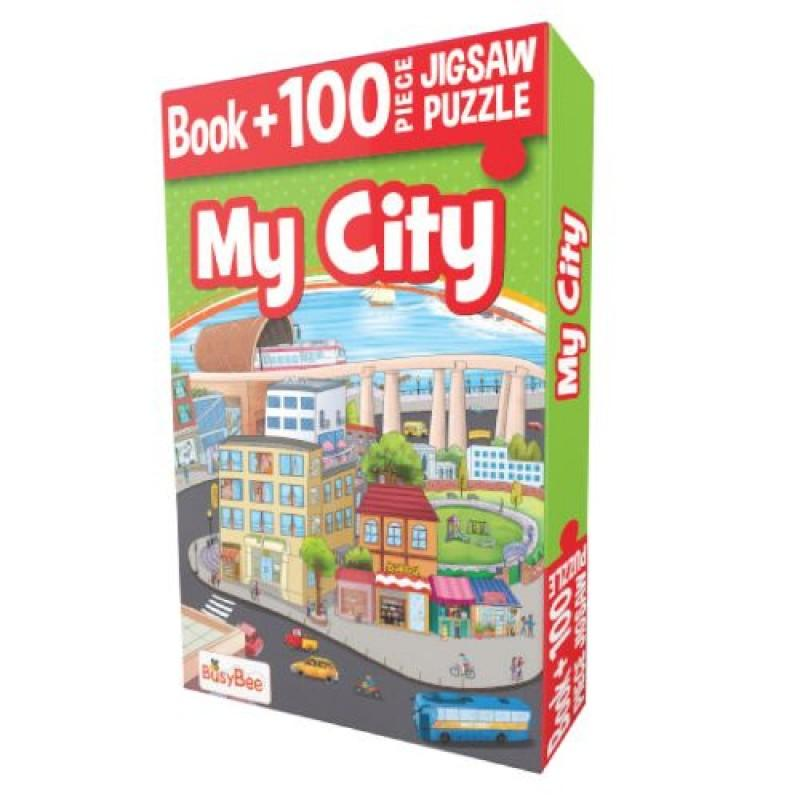 Pegasus My City - Book + 100 Pieces Jigsaw Puzzle