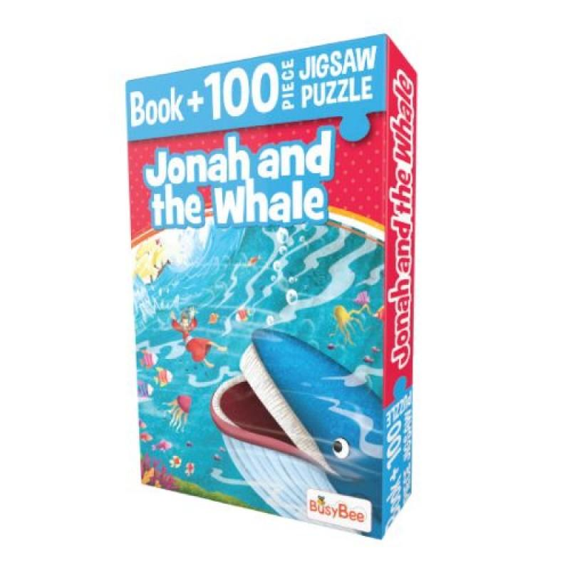 Pegasus Games & Puzzles Jonah and The Whale - Book + 100 Pieces Jigsaw Puzzle