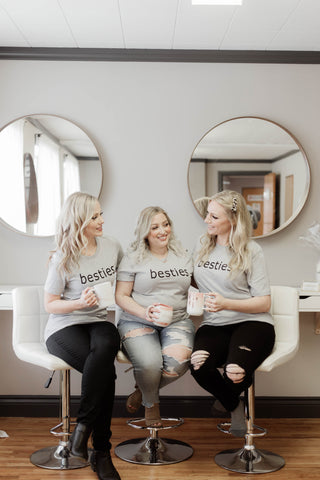 BESTIES BOYFRIEND TEE - GREY