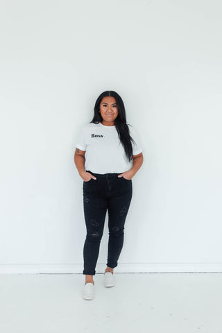 BOSS BOYFRIEND TEE - WHITE