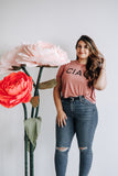 CIAO CROP TEE - DUSTY ROSE