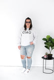 CIAO CREWNECK SWEATER - GREY