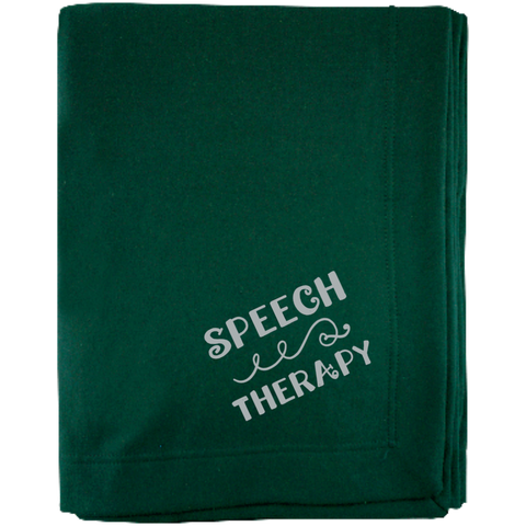 """Speech Therapy"" Sweatshirt Blanket"
