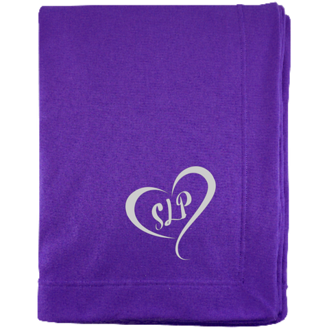 """SLP"" Heart Sweatshirt Blanket"