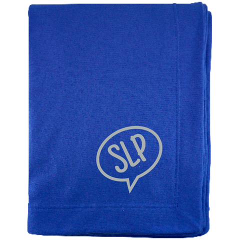 """SLP"" Speech Bubble Sweatshirt Blanket"