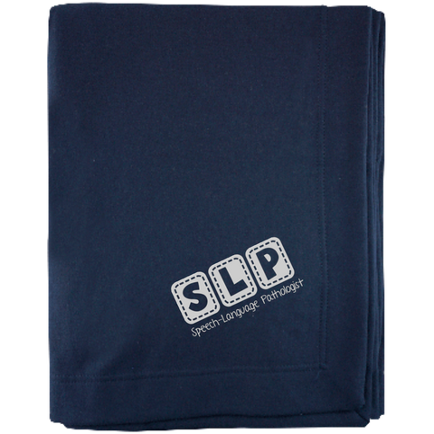 """SLP Speech-Language Pathologist"" Sweatshirt Blanket"