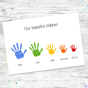 Personalised Child Hand Print