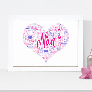 Personalised Pram Word Art Print