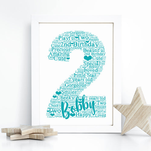 Personalised Meerkat Word Art Print