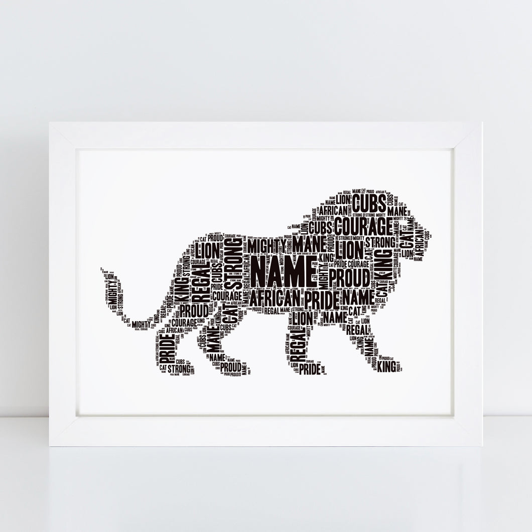 Personalised Minecraft Steve Word Art Print