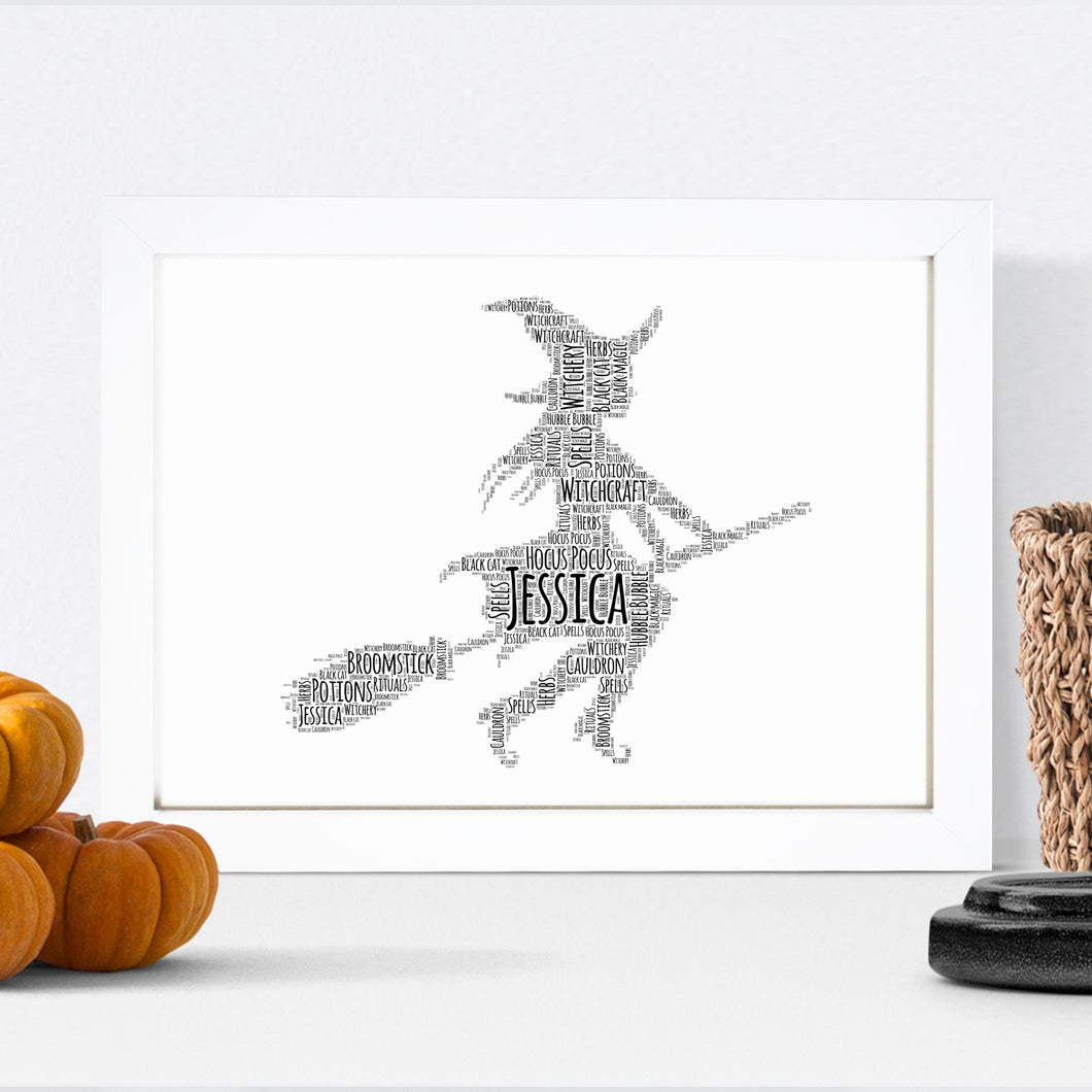 Personalised Witch Word Art Print
