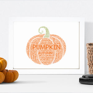Personalised Pumpkin Print