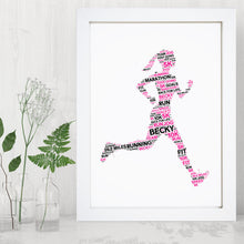 Personalised Female Runner Word Art Print