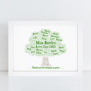 Personalised Mother Son Word Art Print