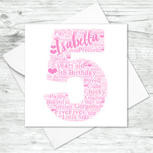 Personalised Mother Baby Word Art Print