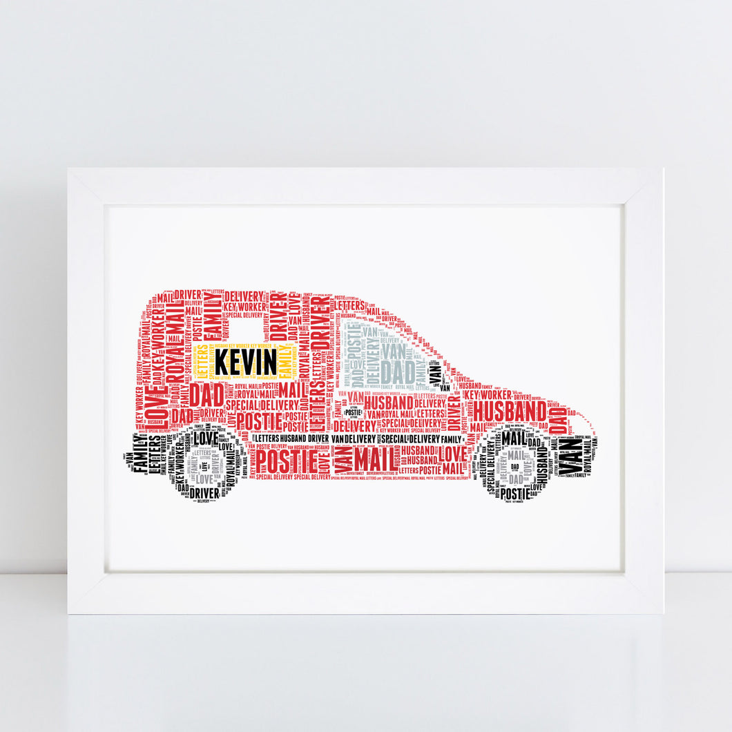 Personalised Post Van Print
