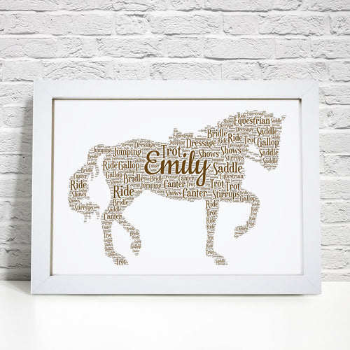 Personalised Horse Word Art Print