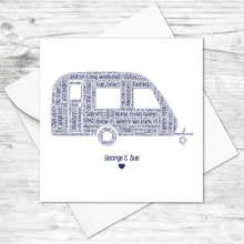 Personalised Caravan Word Art Card
