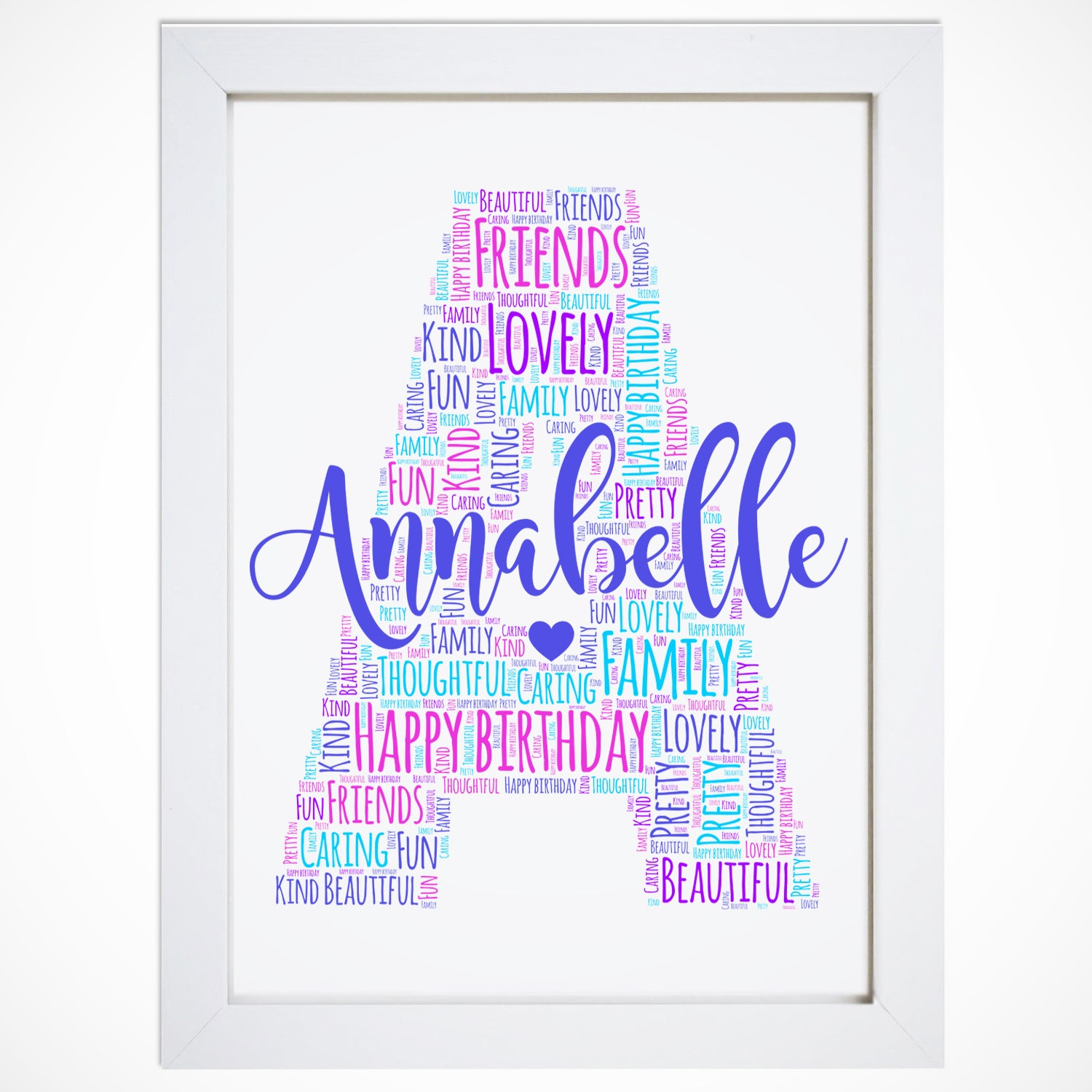 Personalised Letter Name Initial Word Art Print - Violet Grace