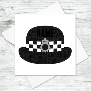 Personalised Police Officer Hat Card