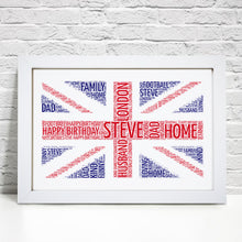Personalised London Flag Word Art Print