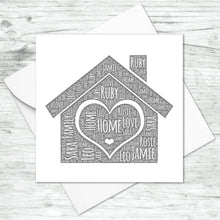 Personalised Home Word Art Card
