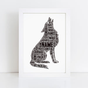 Personalised Star Wars Darth Vader Word Art Print