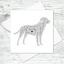 Personalised Labrador Retriever Word Art Card