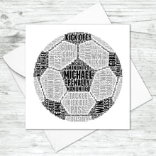 Personalised Football Word Art Card