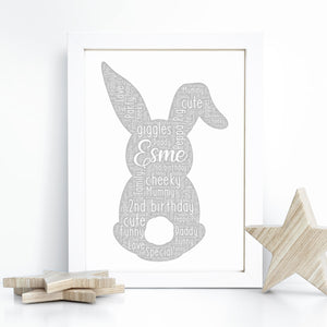 Personalised Spongebob Word Art Print
