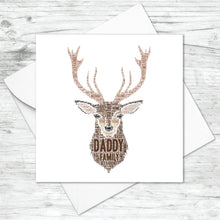 Personalised Stag Head Word Art Card
