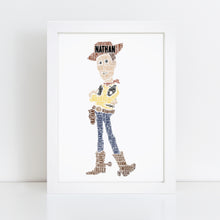 Personalised Woody Word Art Print