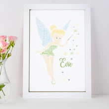 Personalised Tinkerbell Word Art Print