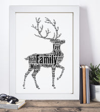 Personalised Stag Word Art Print
