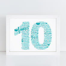 Personalised Golf Word Art Print