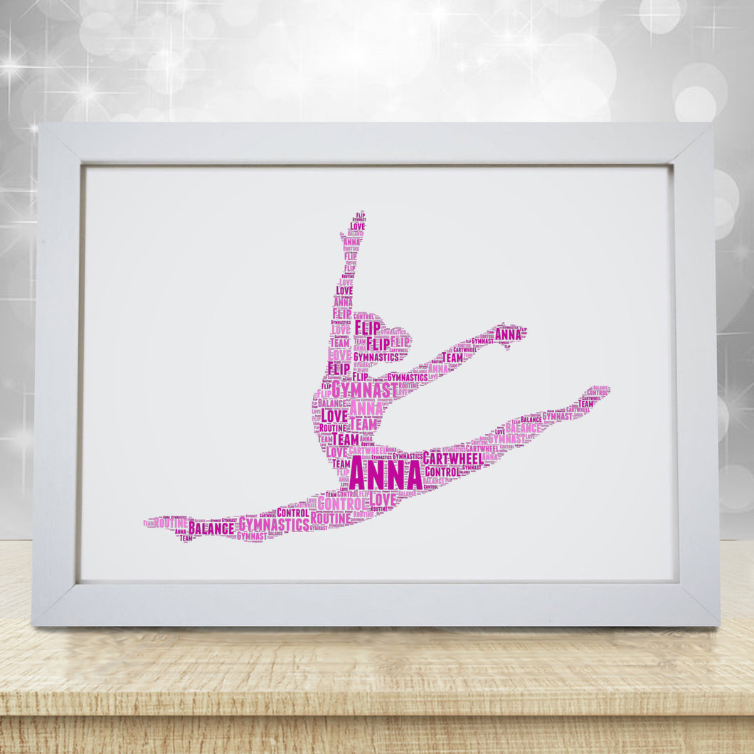 Personalised Gymnast Word Art Print