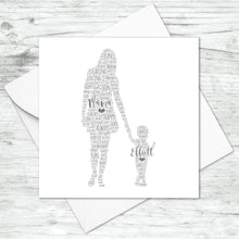 Personalised Mother Toddler Son Word Art Card