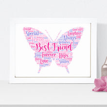 Personalised Butterfly Word Art Print